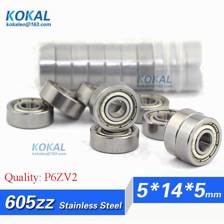 [SS605ZZ-P6]Free Shipping 10pcs stainless steel 830015ZZ 605-2ZZ 605 605zz micro ball bearing 5mm*14mm*5mm