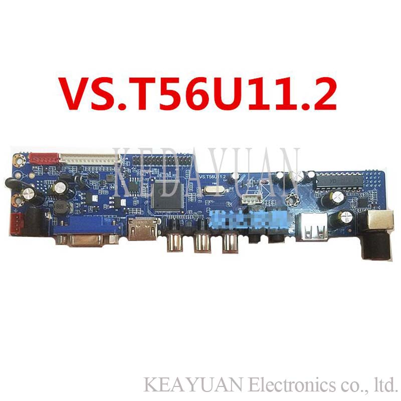 US $12 16 5% OFF|free shipping VS T56U11 2 LCD LED TV Controller Driver  Board work-in Computer Cables & Connectors from Computer & Office on