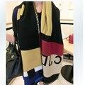 Cachecol Marca De Luxo Mulheres Echarpes Lenços Poncho Femme Prorsum Monogramed Cachecol De Lã Cape Verifique Manta de Caxemira Cachecol Hijab