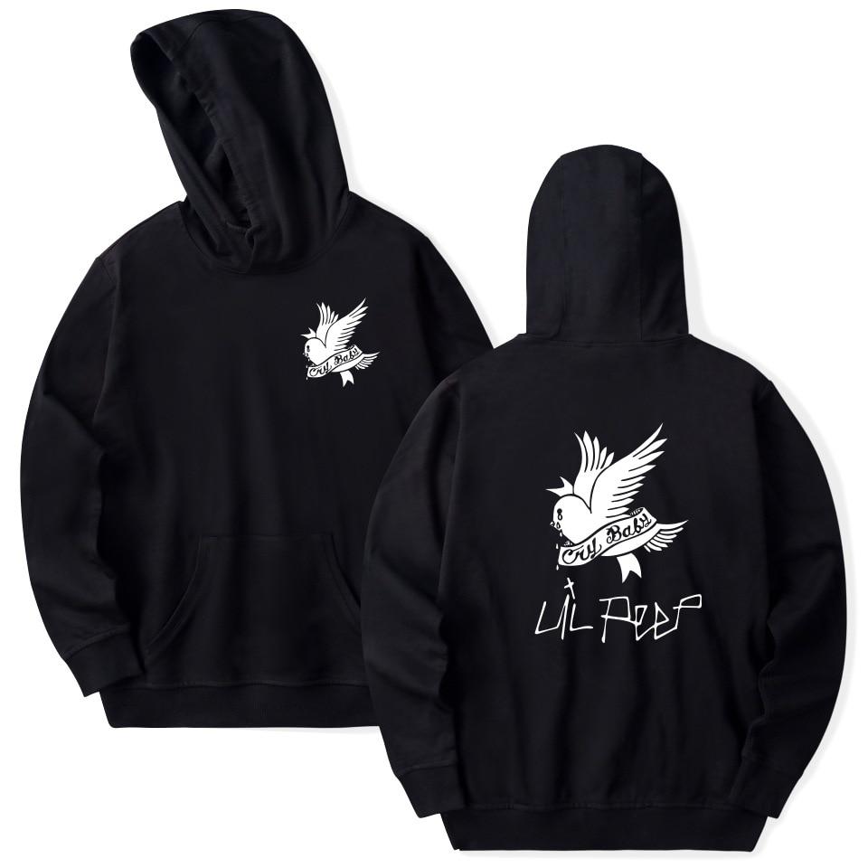 Lil Peep Hoodies Love Lil.peep Men Sweatshirts Hooded Pullover Sweatershirts Male/Women Sudaderas Cry Bird Hood Hoddie HS007