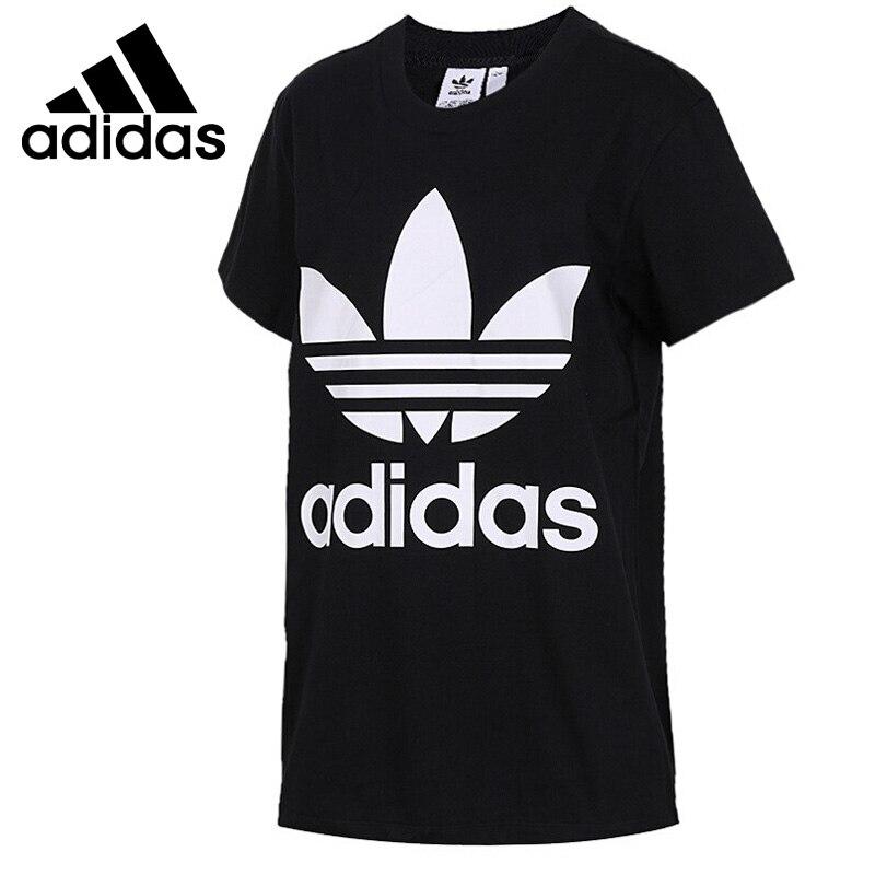 Original New Arrival 2018 Adidas Originals BIG TREFOIL TEE Women's T-shirts short sleeve Sportswear original new arrival 2017 adidas neo label m sw tee men s t shirts short sleeve sportswear