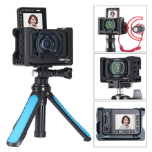UURig R RX0 II Camera Vlog Metal Cage Case for Sony RX0 II ARRI Cold Shoe 1/4 3/8 Screw for Microphone LED Light VS Smallrig