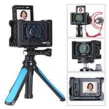 UURig R RX0 II Fotocamera Vlog Gabbia di Metallo per il Caso di Sony RX0 II ARRI Scarpa Freddo 1/4 3/8 Vite per il Microfono HA CONDOTTO LA Luce VS Smallrig