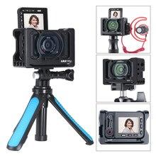 UURig R RX0 II 카메라 Vlog 금속 케이지 케이스 소니 RX0 II ARRI 콜드 슈 1/4 3/8 나사 마이크 LED 라이트 VS Smallrig