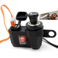 New Waterproof Motorbike Motorcycle Phone Charger 12 V Cigarette Lighter 5V USB Power Port Adaptor Outlet
