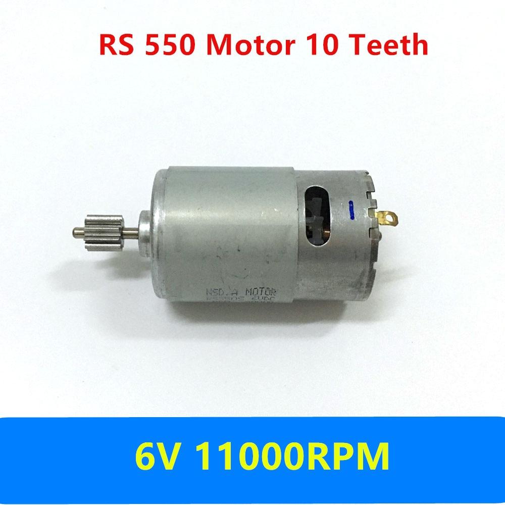 RS550 Motore Elettrico per auto 6 V DC 11000 RPM del capretto 10 denti motore Motore Auto Telecomando per BambiniRS550 Motore Elettrico per auto 6 V DC 11000 RPM del capretto 10 denti motore Motore Auto Telecomando per Bambini