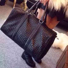 kanye west woven large travel bag knitted genuine leather ha