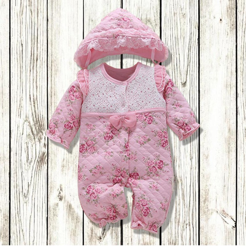 Baby Rompers Clothes Newborn Clothes Onesies Thicken Baby For Autumn/Winter Accessory Casual ...