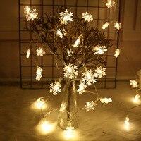 3M 20 Led copo de nieve Luz de adornos de guirnaldas decoraciones para árboles de Navidad para el hogar decoraciones de invierno artículos de fiesta de la línea Frozen