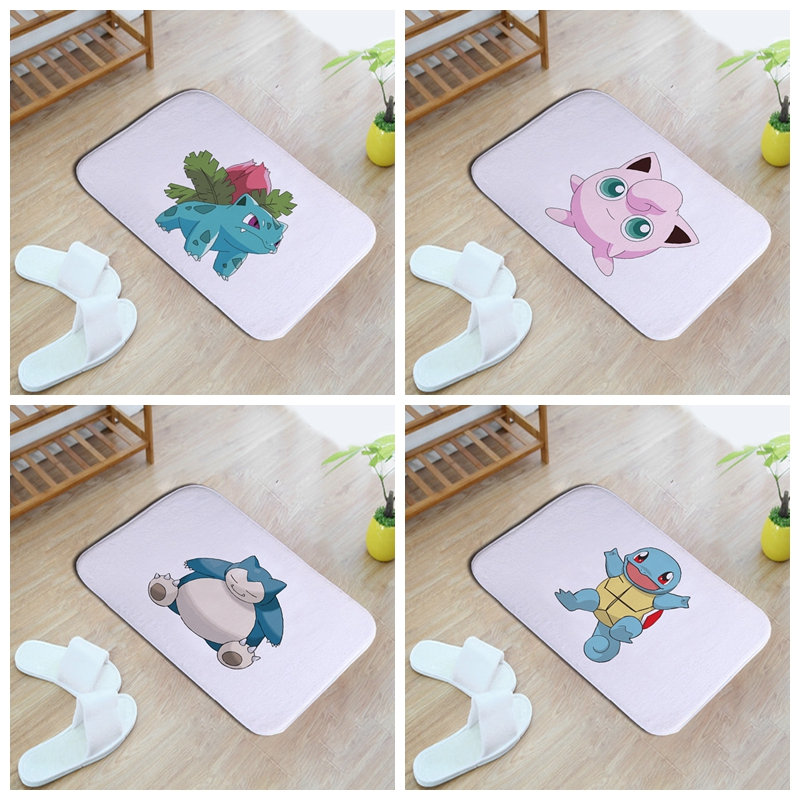 lovely naughty colorized cartoon pet elves 40*60cm Entrance Indoor Coral Fleece Non-slip ...