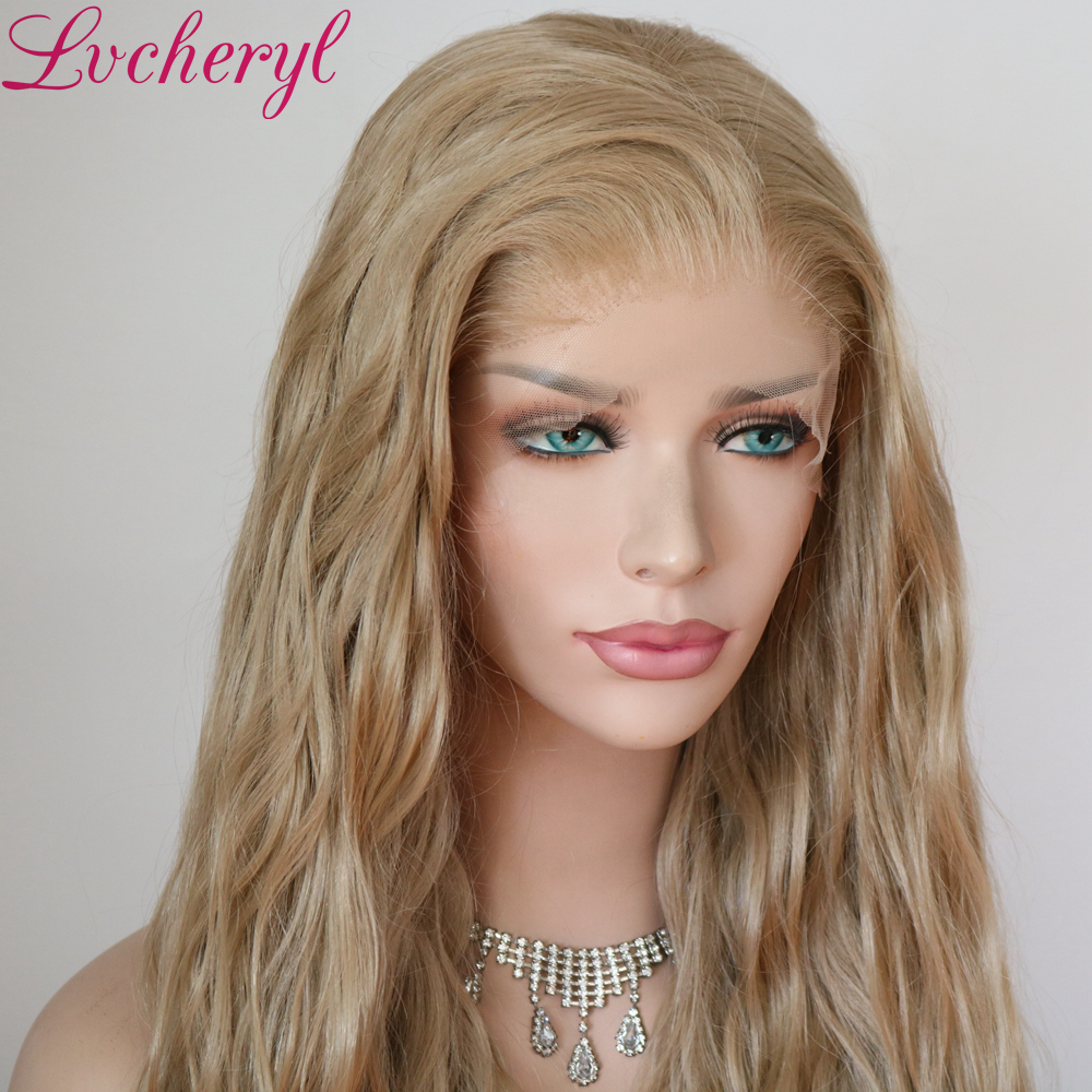 Image 4 - Lvcheryl Synthetic Lace Front Wig Natural Wave Red Color 13x6 Synthetic Lace Front Wig Futura Hair Lace Wigs For Women-in Synthetic Lace Wigs from Hair Extensions & Wigs