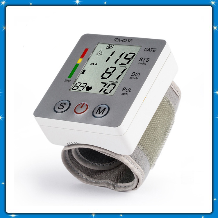 Health Care Automatic Digital Live Voice Wrist Blood Pressure Monitor JZK-003B Tester Heart Beat Meter Monitor Sphygmomanometer