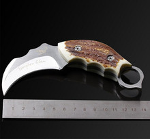 Outdoor Karambit knife Hunting Knives Camping Tool Survival Tactical Knife Stainless steel scorpion claw knife