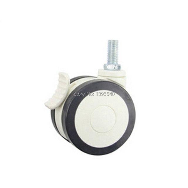 New 3'' Swivel Wheel Caster Industrial Castor Univeral Wheel PU 360 Degree Rolling Heavy Caster Bearing Furniture Wheel