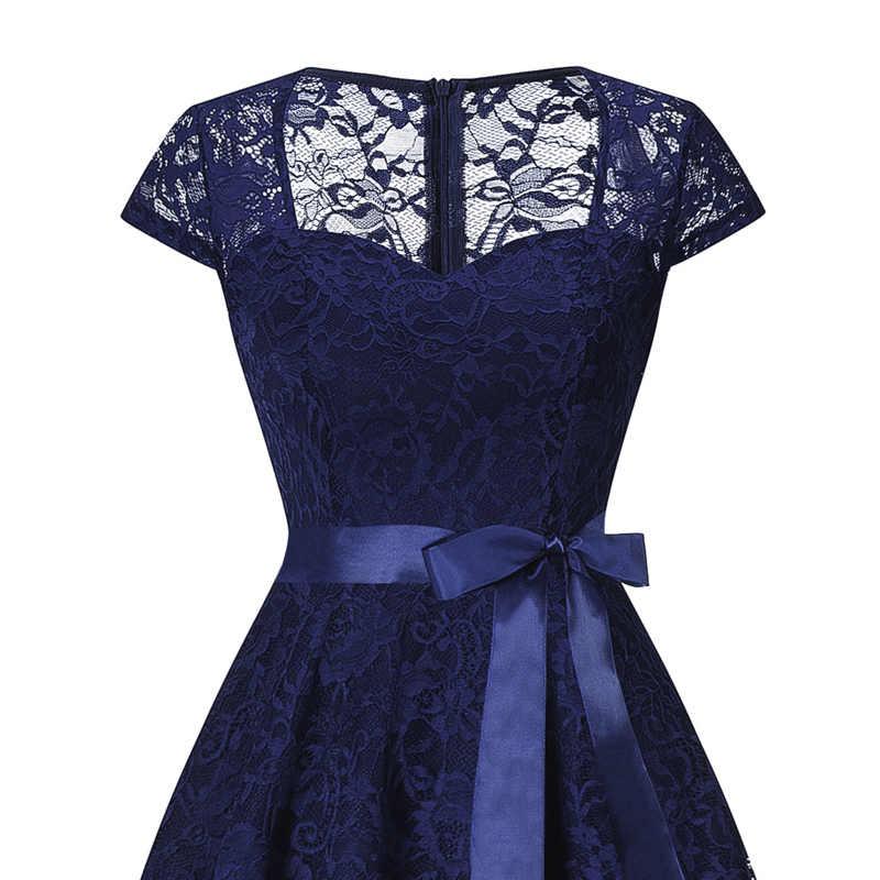 81cca670ff9f2 Tonval Purple Floral Lace Vintage Dress Elegant V Neck Women Summer Dresses  2018 Cap Sleeve Party A Line Dress