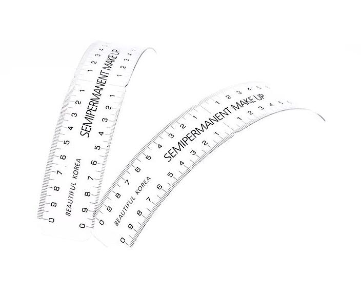 Permanent Makeup Stencils Plastic Eyebrow Ruler Tattoo Cosmetic Shaping Measure Tool Makeup Reusable Eyebrow Ruler 1 PCSPermanent Makeup Stencils Plastic Eyebrow Ruler Tattoo Cosmetic Shaping Measure Tool Makeup Reusable Eyebrow Ruler 1 PCS
