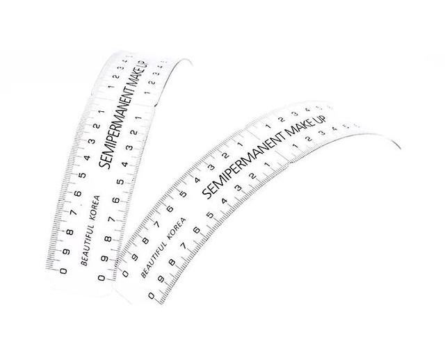 Permanent Makeup Stencils Plastic Eyebrow Ruler Tattoo Cosmetic Shaping Measure Tool Makeup Reusable Eyebrow Ruler 1 PCS