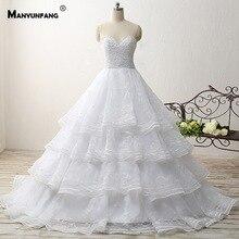 MANYUNFANG Modest Vestidos De Novia Sirena Wedding Dresses