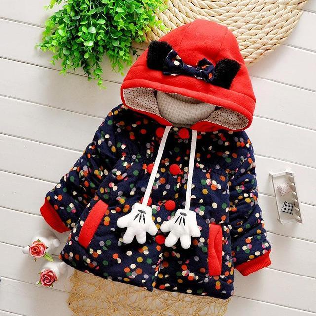 Новая мода теплый хлопка-ватник из девушек