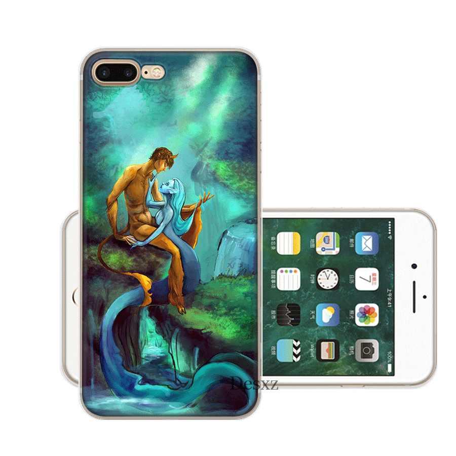 Desxz حورية البحر الحب حقيبة لهاتف أي فون 7 8 6 6s زائد فون 11 برو X XR XS ماكس 5 5S SE غطاء حقيبة