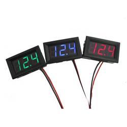 Новый мини-вольтметр тесты er цифровой Напряжение тесты батарея DC 0-30 в красный/синий/зеленый авто