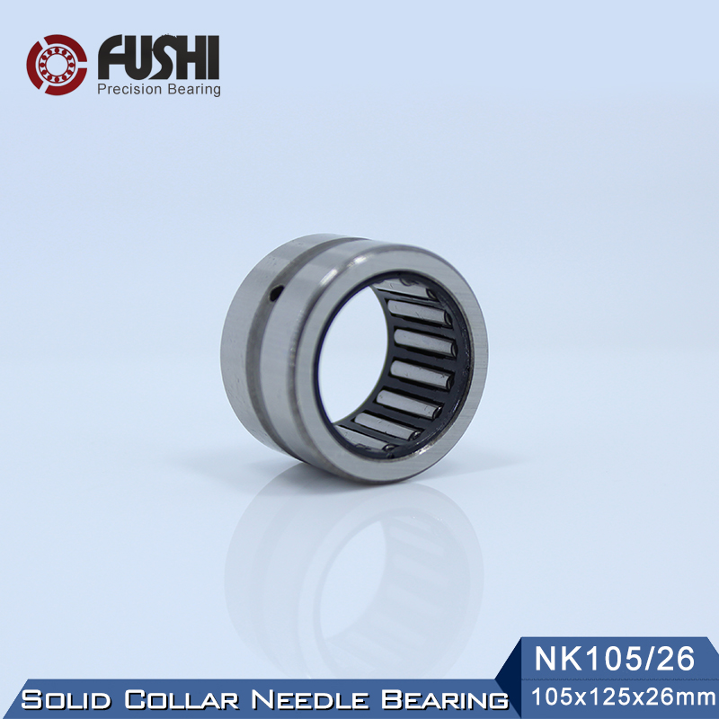 NK105/26 Bearing 105*125*26 mm ( 1 PC ) Solid Collar Needle Roller Bearings Without Inner Ring NK105/26 NK10526 Bearing все цены