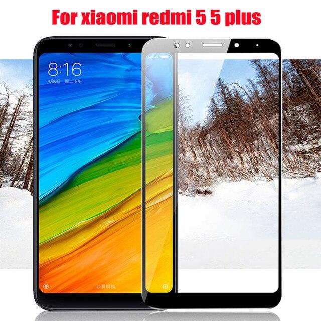 New 9H 2.5D For Xiaomi redmi 5 Screen Protector Full Coverage Tempered glass Film For Xiaomi redmi 5 plus 2017 redmi 5 Glass