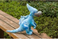 lovely Unicorn dragon plush toy simulation blue dinosaurs toy doll birthday gift about 50cm