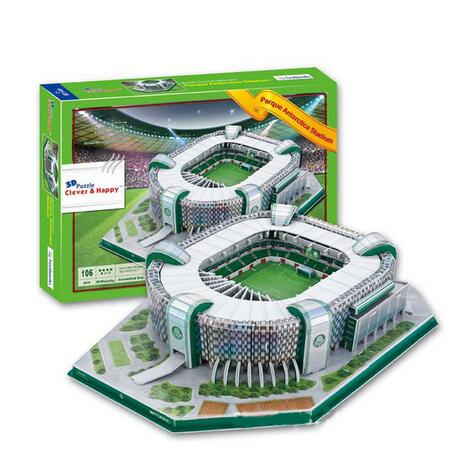 Candice guo 3D puzzle DIY toy paper building model Brazil parque antarctica football Stadium assemble game kid birthday gift set diy wooden building block 65pcs kid puzzle game assemble toy early education tool