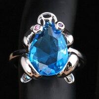 사랑스러운 개구리 라이트 블루 큐빅