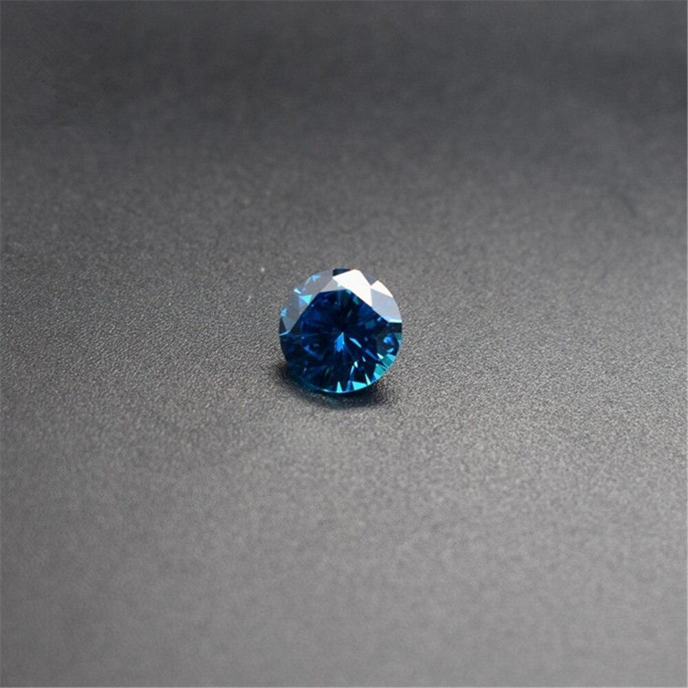 1694a 1x Zafiro//safir-redondo con facetas azul 5,0mm