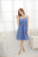 Free Shipping2016 New  summer style Cotton Nightgown cartoon Nightdress pijama Ladies Sleepwear Women nightwear AW8265