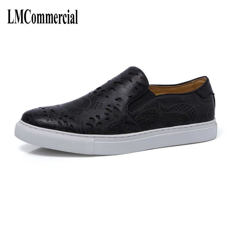 2017 spring and summer style men leather casual shoes , low permeable breathable men's hollow print shoes breathable sneaker the new spring and summer leather shoes breathable sneaker fashion boots men casual shoes handmade fashion