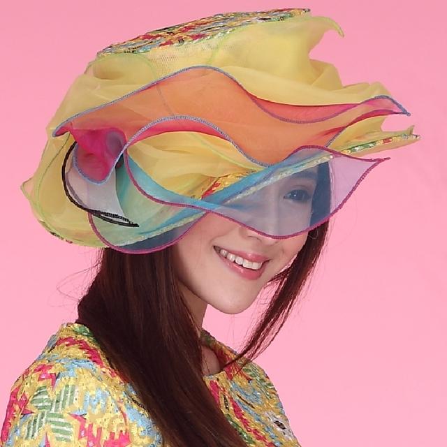 Las mujeres de Las Señoras Sombrero Del Organza de Boda de La Iglesia Derby Playa Cóctel de la Tarde Party Dress Fedora Sombrero de Ala Ancha Casquillo Del Sol Del Verano de La Vendimia nueva