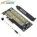 SK6 M.2 NVMe SSD NGFF на PCIE X4 Riser Card M Key + B Key  двойная интерфейсная карта  поддержка PCI Express 3 0x4 2230-22110  все размеры M.2