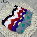 Nova moda Polka dot impressão Colorido meias de algodão senhoras socks bonito lazer das senhoras quentes 5 pares/lote