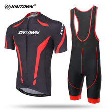 XINTOWN Short Sleeve Cycling Jersey Set MTB Bike Clothing Summer Bicycle Jerseys For Men Simple Style Maillot Ropa Ciclismo