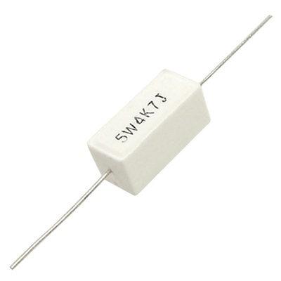 10 Pcs Ceramic Cement Power font b Resistors b font 4 7K 4K7 Ohm 5 5W