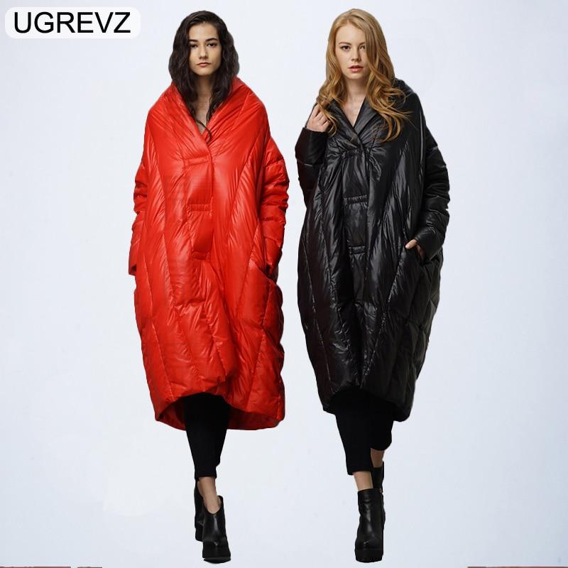 Female Jackets Winter Coat Overcoat Fashion Elegant Women Vintage Coat 2018 New High Quality Warm Extra Long Down Parka Clothing