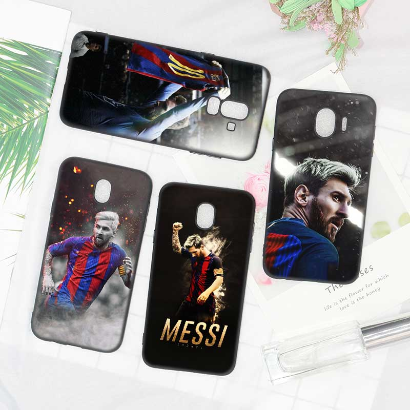 Black Soft Silicone Phone Case Lionel Messi Soccer player for Samsung Galaxy j8 j7 j6 j5 j4 j3 Plus 2018 2017 2016