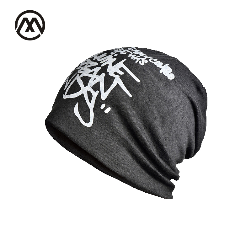 2017 Brand Autumn Winter Letter Hedging Cap For Men Women Skullies Beanies Ski Knitting Caps Double Layer  Head Thin Cotton Hat