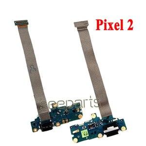 Image 4 - 100% testowane dla Google Pixel 2 Pixel 2XL stacja dokująca USB Port zamiennik kabla Flex Google Pixel 3 4 XL USB płytka ładująca