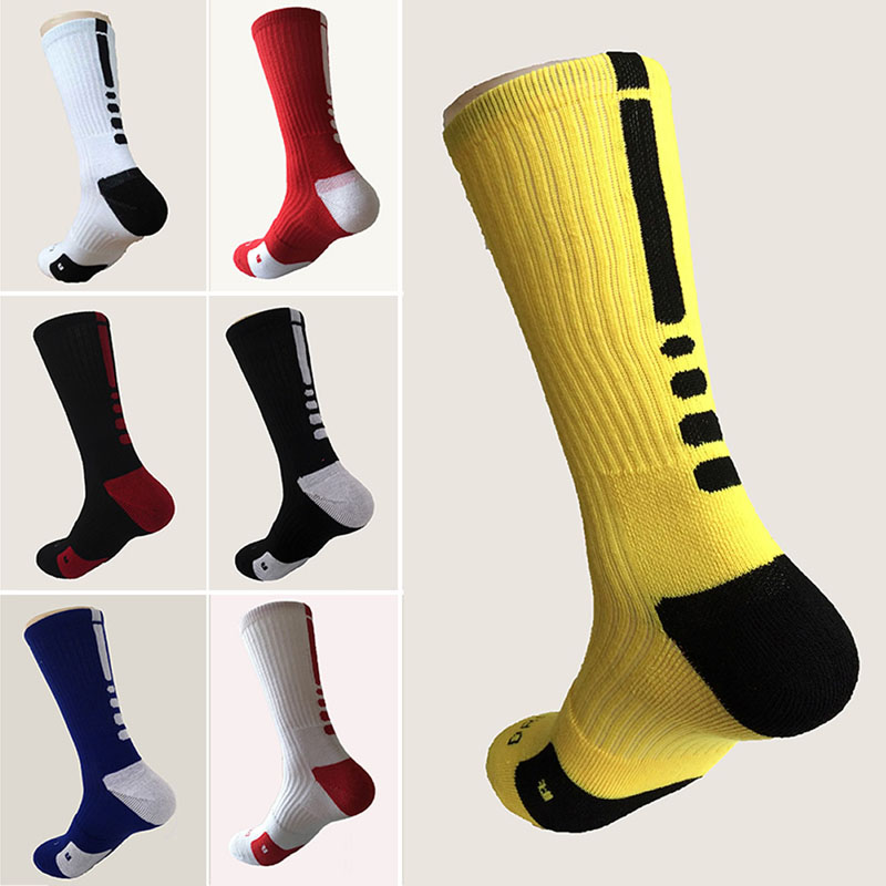 Mens fashion white Business Cotton Crew Dri-Fit long Socks