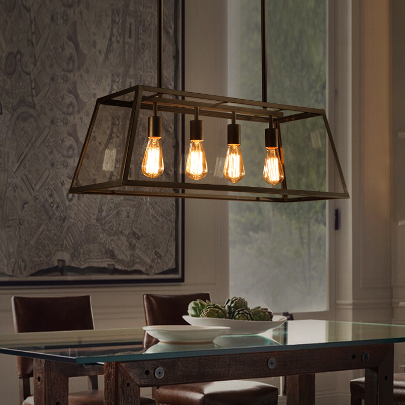 Retro Industrial Style Simple Creative Design Pendant Light Made with Iron Light Box And Glass L&shade-in Pendant Lights from Lights u0026 Lighting on ... & Retro Industrial Style Simple Creative Design Pendant Light Made ... azcodes.com