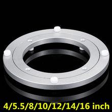 6 размеров круглая форма поворотный стол гладкая поворотная пластина вращающийся стол алюминиевый сплав вращающийся подшипник ленивая пластина Susan