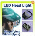 LED Head light + magnifying glass magnifier Hands Free