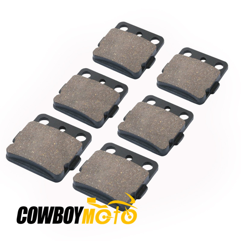 6pcs Motorcycle Parts Front Rear Brake Disks Brake Pads Kit Set For Yamaha ATV YFM660 YFM 660 RAPTOR 2001-2005 01 02 03 04 05
