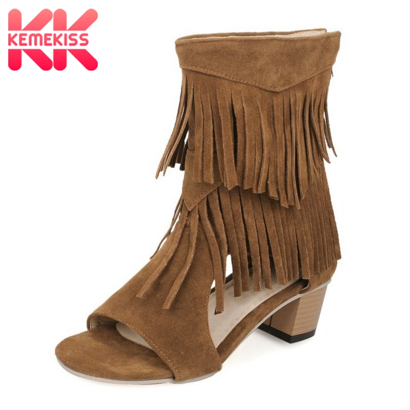Sexy Tassel Shoes Women Sandals High Heels Lady Casual Lace-Up Dress Party Shoes For Women Square Heel Sandal Size 31-45 PA00857Sexy Tassel Shoes Women Sandals High Heels Lady Casual Lace-Up Dress Party Shoes For Women Square Heel Sandal Size 31-45 PA00857