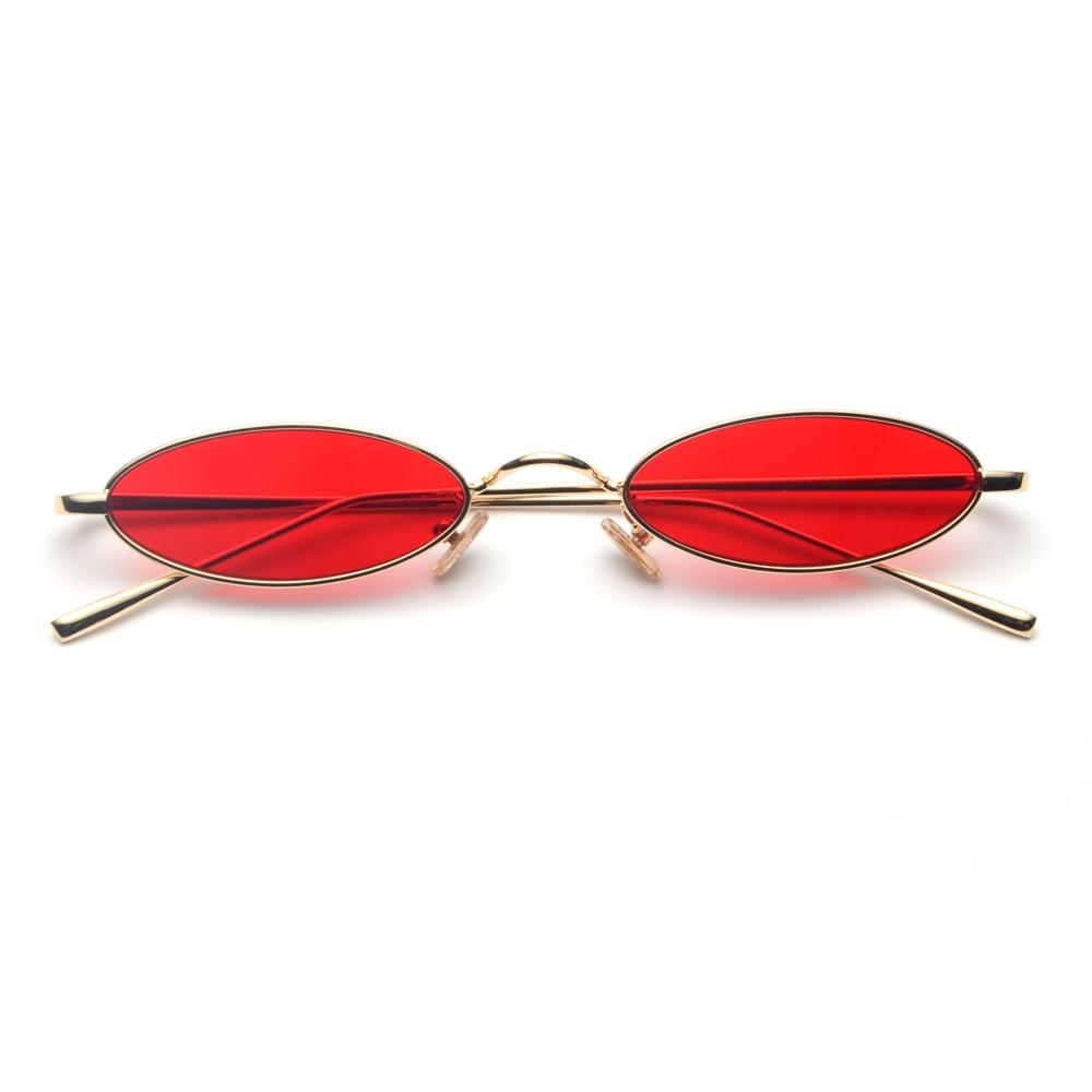 2018 gafas de sol ovales pequeñas para hombres retro marco de metal - Accesorios para la ropa - foto 5