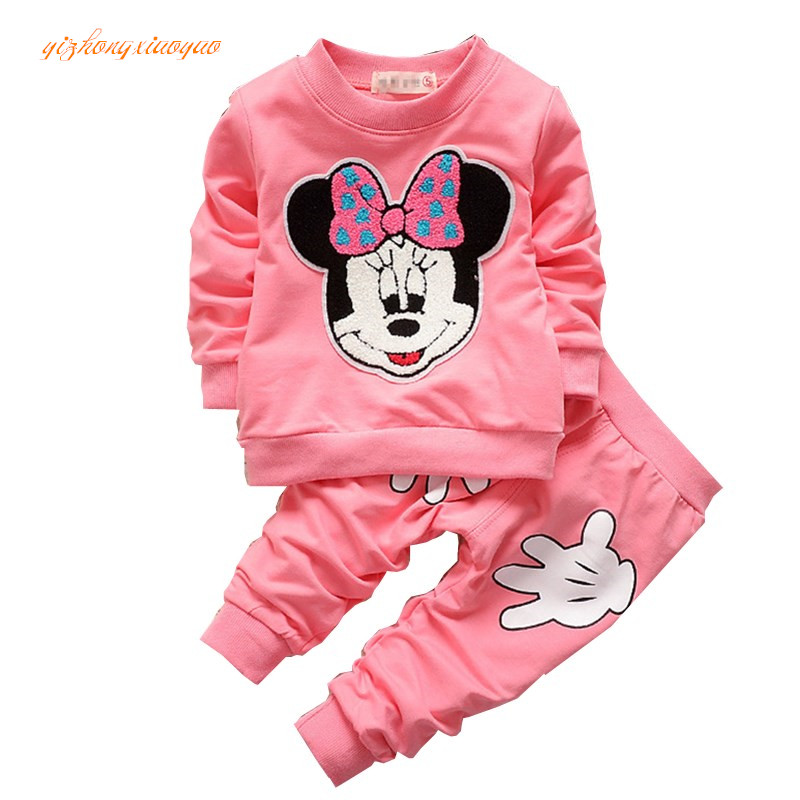 2pcs/set Cotton Spring Autumn Baby Boy Girl Clothing Sets Newborn Clothes Set For Babies Boy Clothes Suit(Shirt+Pants)Infant Set summer baby boy clothes set cotton short sleeved mickey t shirt striped pants 2pcs newborn baby girl clothing set sport suits